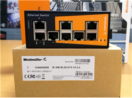 WEIDMULLER Ethernet Switch: 8 ports, 5 ports